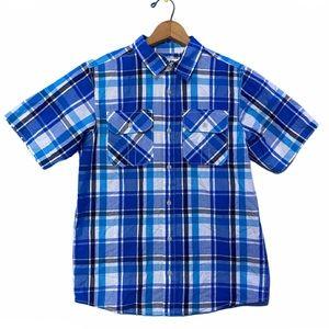 Urban Pipeline Boys XL Plaid Short Sleeve Shirt